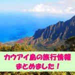 【カウアイ島の情報まとめ】お天気や服装!観光とパワースポット!旅行記!
